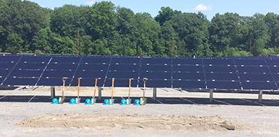 Solar energy helps power our production plant
